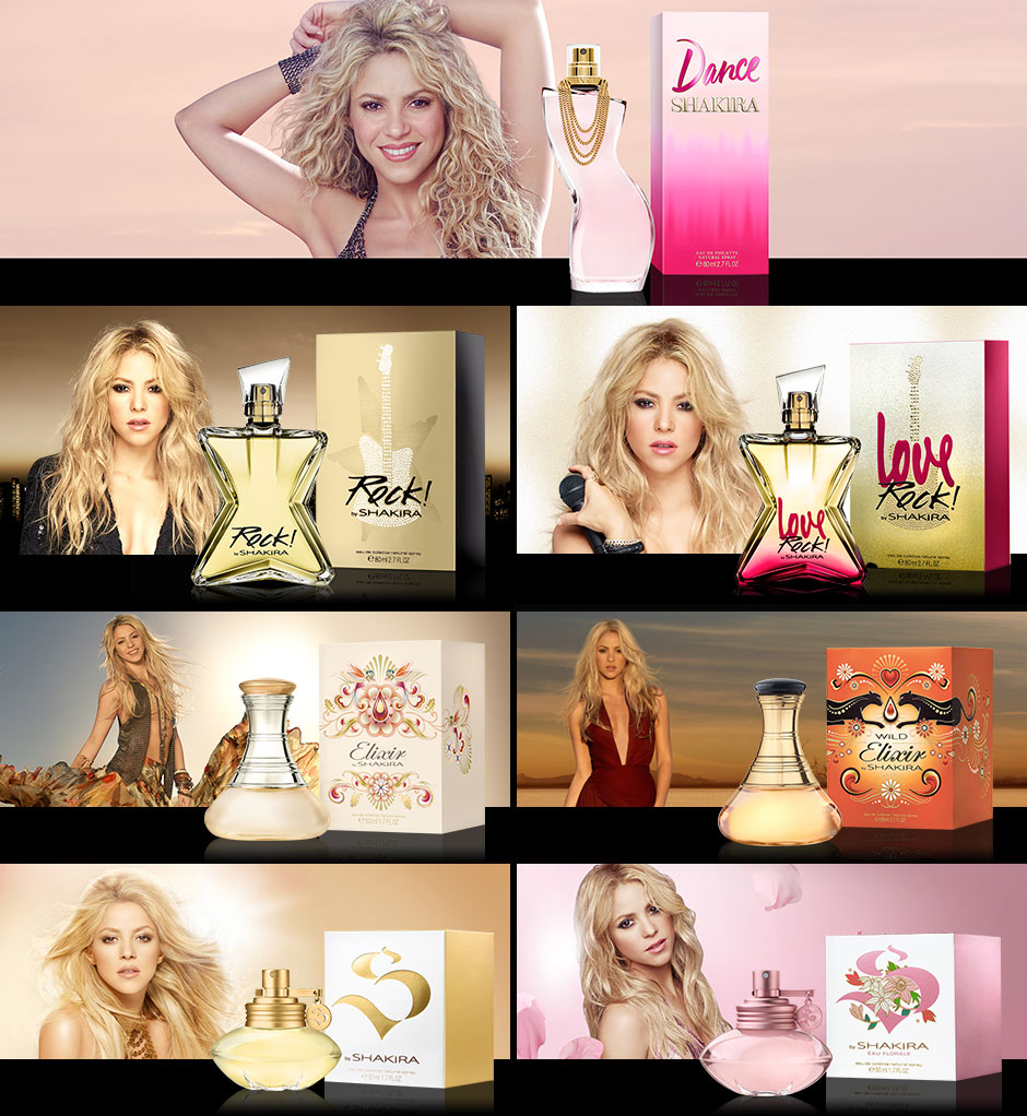 shakira fragrances